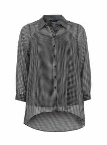 Black Dogtooth Shirt, Black/White