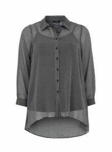 Black Dogtooth Shirt, Black/White