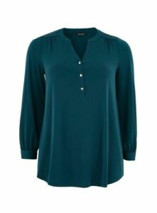 Green Button Jersey Shirt, Green