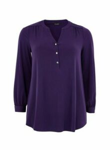 Purple Button Jersey Shirt, Purple