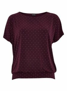 Wine Sparkle Jersey Top, Wine