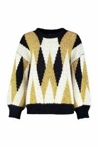 Womens Premium Metallic Tinsel Knitted Jumper - metallics - S/M, Metallics