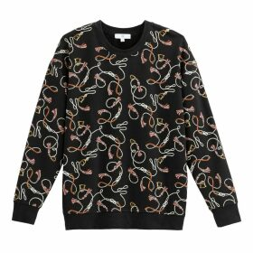 Chain Print Sweatshirt in Cotton Mix