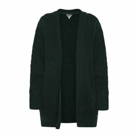 Long Open Cardigan in Chunky Knit