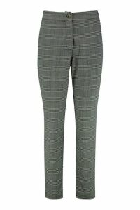 Womens Check Tailored Trouser - grey - 12, Grey