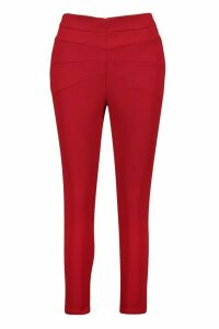 Womens Panelled Sculpt Skinny Trousers - red - 16, Red
