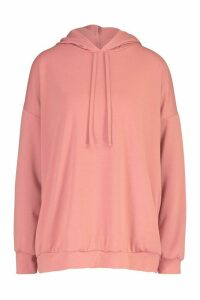 Womens Oversized Hoodie - pink - M, Pink