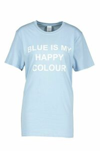 Womens My Happy Colour Charity T-Shirt - blue - 14/16, Blue