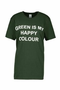 Womens My Happy Colour Charity T-Shirt - green - 18-20, Green