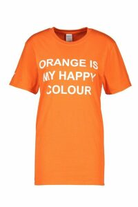 Womens My Happy Colour Charity T-Shirt - orange - 18-20, Orange