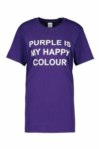Womens My Happy Colour Charity T-Shirt - purple - 18-20, Purple