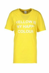 Womens My Happy Colour Charity T-Shirt - yellow - 18-20, Yellow