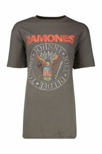 Womens Ramones Licenced Tee - grey - S, Grey