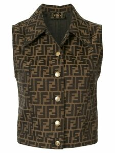 Fendi Pre-Owned Zucca print shirt - Brown