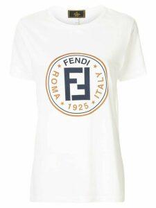 Fendi Pre-Owned logo print T-shirt - White