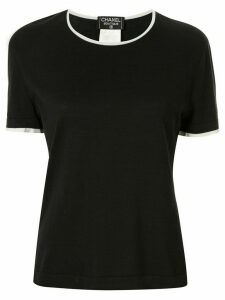 Chanel Pre-Owned 1996 round neck T-shirt - Black