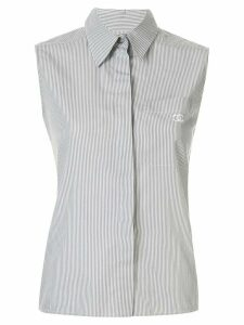 Chanel Pre-Owned 1999 striped sleeveless shirt - White