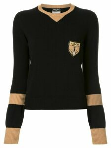 Chanel Pre-Owned logo badge jumper - Black