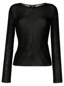 Chanel Pre-Owned 1999 ribbed T-shirt - Black
