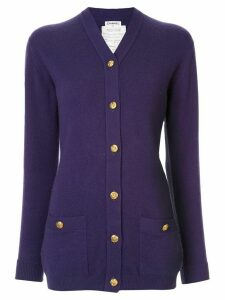 Chanel Pre-Owned cashmere slim-fit buttoned cardigan - Blue