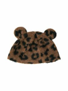 Caffe' D'orzo TEEN animal-print hat - Brown