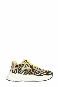 Elena Iachi Sneakers In Animalier Pony Skin