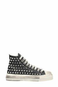 Gienchi J.m Alta Sneakers In Black Glitter