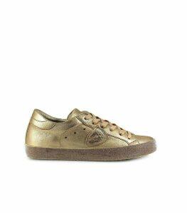 Philippe Model Gold Paris Glitter Metal Sneaker