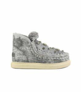 Mou Mini Eskimo Grey Sneaker Wit Rhinestones