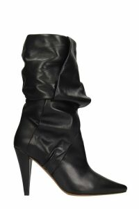 IRO Arima High Heels Ankle Boots In Black Leather
