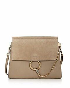 Chloe Faye Medium Color-Block Shoulder Bag