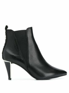 DKNY pointed logo ankle boots - Black