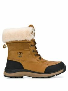 Ugg Australia shearling lined lace-up boots - Brown