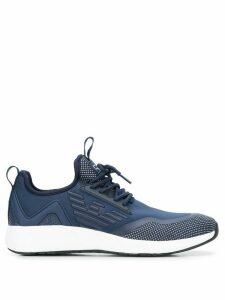 Ea7 Emporio Armani logo print sneakers - Blue
