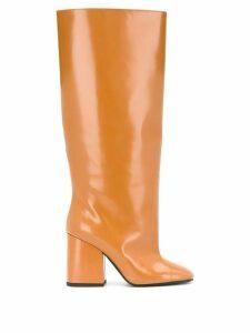 Marni square-toe boots - Brown