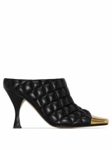 Bottega Veneta 90mm quilted mules - Black