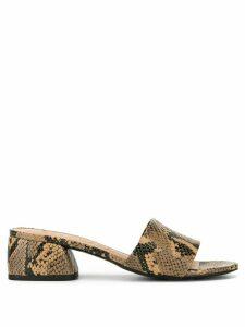 Vicenza snakeskin-effect sandals - Brown