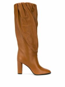 Givenchy ruched hem high boots - Brown