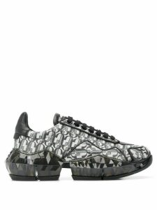 Jimmy Choo Diamond monogram sneakers - SILVER