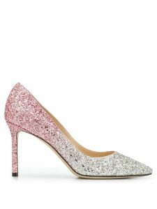 Jimmy Choo Romy 85mm glitter-embellished pumps - PINK