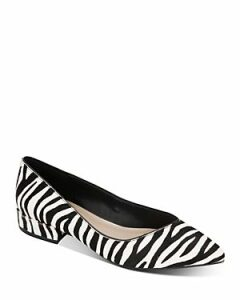 Kenneth Cole Women's Camelia Zebra-Print Ballet Flats