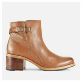 Clarks Women's Clarkdale Jax Leather Heeled Ankle Boots - Dark Tan