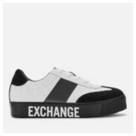 Armani Exchange Women's Flatform Trainers - White/Black - UK 5