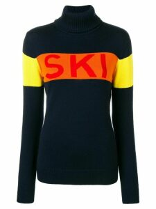Perfect Moment Ski intarsia knit jumper - Blue