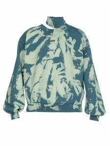 Off-White Tie Dye Trashed Sweatshirt