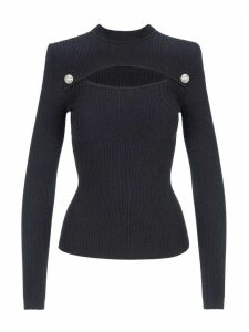 Balmain Cut Out Knitted Top