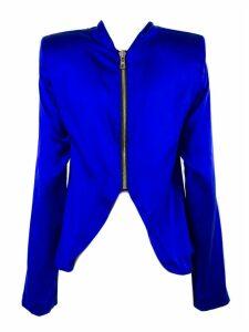RTA Cobalt Blue Silk Blouse