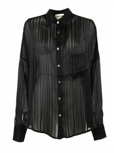 SEMICOUTURE Black Lightweight Ribbed Shirt