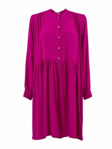 SEMICOUTURE Fuchsia Pink Long Button-up Dress