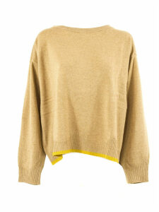 SEMICOUTURE Beige Wool And Cashmere Jumper